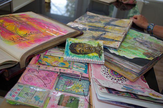 Art Journaling mit kreatives leben