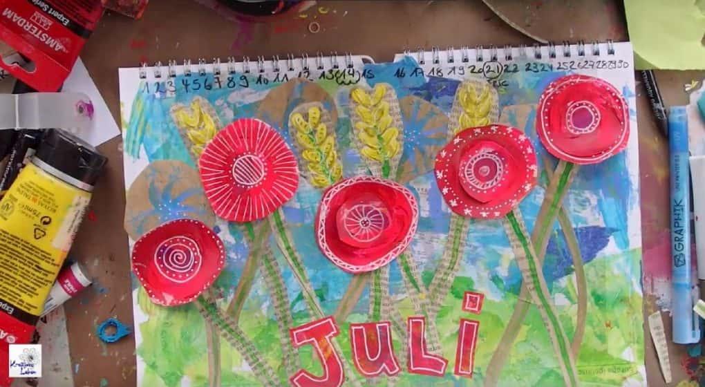 Juli-Kalender-Seite