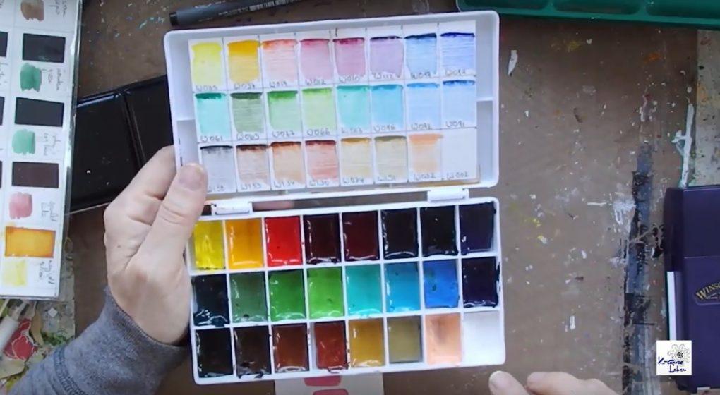 Wasserfarben im Art Journaling