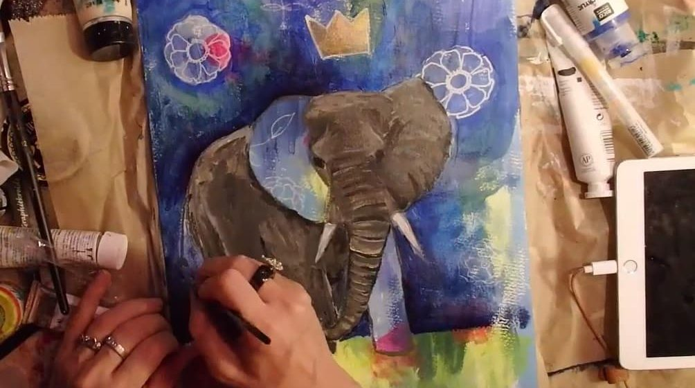 elefant malen