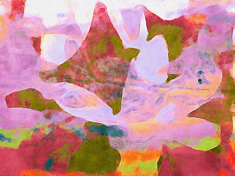Bild mit Gelli Plate - Gelplatte erstellt