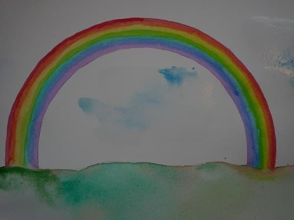 gemalter regenbogen