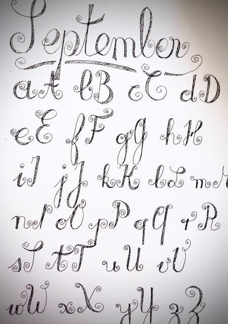 Lettering ABC