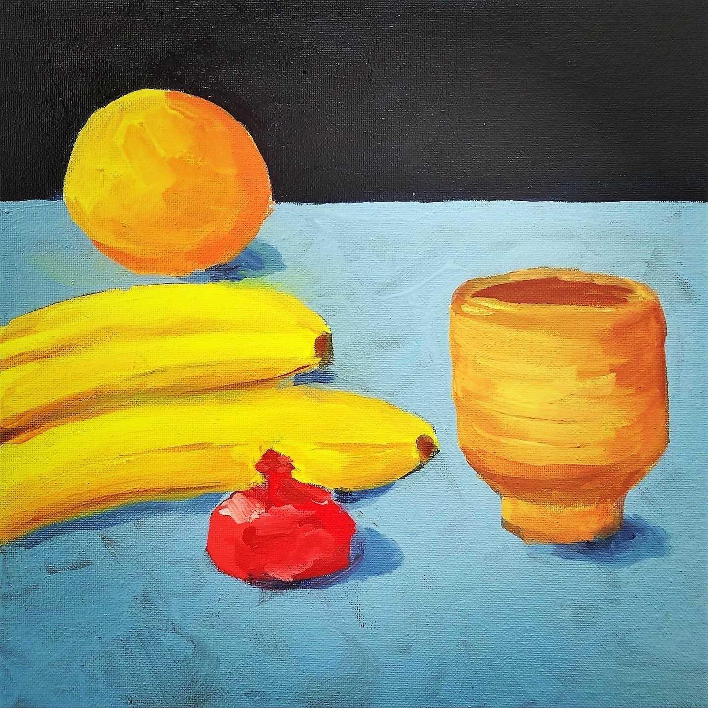 Stillleben mit Früchten - Öl auf Leinwand