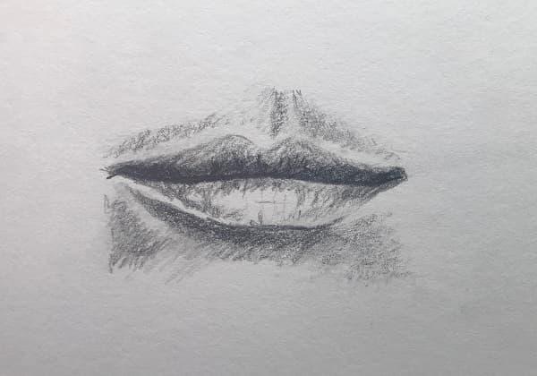 Mund zeichnen